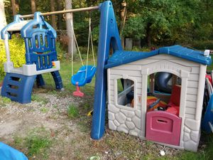 Swing set has slide and swing great for ages 1 to 5 for Sale in Hanson, MA