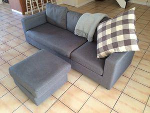Gray sofa with ottoman! for Sale in Miami, FL