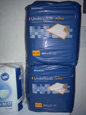 Under pads & size small adult briefs diapers for Sale in Spring Hill, FL