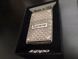 Supreme Diamond Plate Zippo for Sale in Rancho Santa Margarita, CA