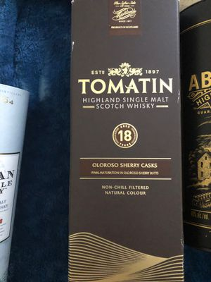 18 years Tomatin Scotch Wiskey for Sale in Bell Gardens, CA