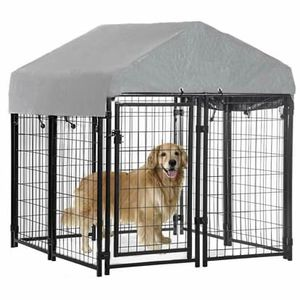 OutDoor Heavy Duty Patio Playpen Welded Dog Kennel w/ Water-Resistant Cover for Sale in Spring, TX