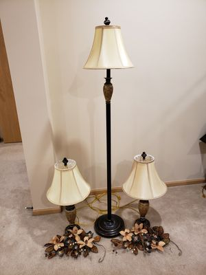 Set of 3 lamp for Sale in Yorkville, IL