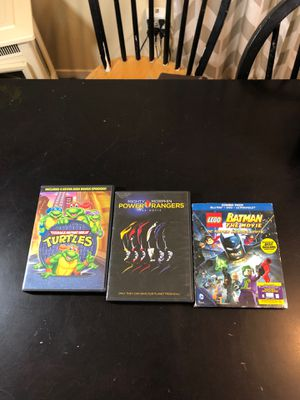 Kids movies , teenage mutant ninja turtles , mighty morphin power rangers the movie , lego Batman the movie for Sale in Ontario, CA