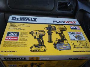 Dewalt FLEXVOLT 20V MAX XR Brushless 2-Tool Kit- Hammer/Impact Drills for Sale in Bethany, OK