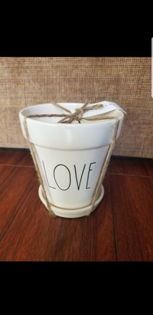 "4.5"" Rae Dunn 'LOVE' flower pot for Sale in Industry, CA"