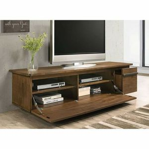 MID CENTURY MODERN LIGHT WALNUT GREY FINISH TV MEDIA STAND CABINET for Sale in Fontana, CA