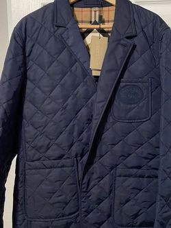 Burberry Clifton Blazer Jacket New Authentic Size Large Navy Blue Retails $790 Selling $490 for Sale in Los Angeles,  CA