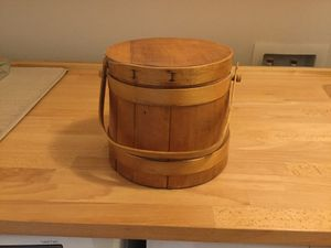 Vintage wood pail for Sale in Olympia, WA