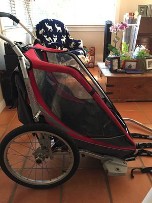 Bike chariot trailer for 2 children for Sale in San Diego, CA