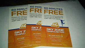 SKY ZONE TICKETS FOR 60MINS for Sale in Stockton, CA