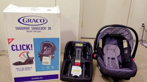 Graco Snugride Snuglock 30 (Infant car seat) in excellent condition for Sale in Dallas, TX
