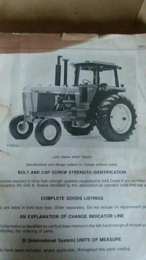 John deer Tractor manual for Sale in Hobart, IN