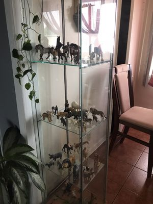 GLASS GABINET & FIGURES COLLETIBLES+60 for Sale in Los Angeles, CA