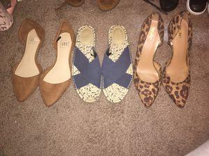 Women's shoes flats, sandals, heels for Sale in Chandler, AZ