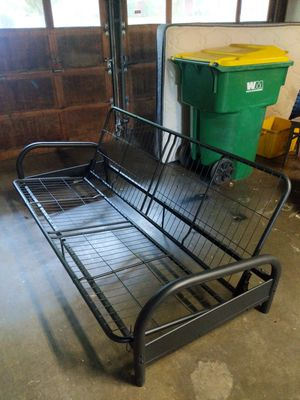 Black metal futon frame for Sale in Tigard, OR