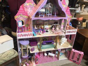 Huge Barbie house with plenty extras for Sale in Alexandria, LA