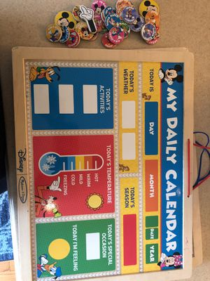 $5 Disney Mickey Mouse Daily calendar with all magnets for Sale in Vienna, VA