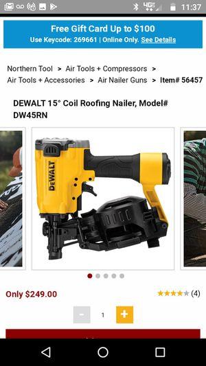 DeWalt roofing gun 15 degree for Sale in Grifton, NC