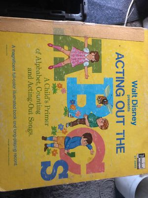 Walt Disney presents Acting out the ABC's vinyl 1967 for Sale in Los Angeles, CA