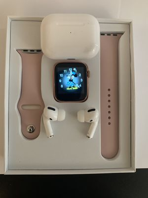 Smartwatch + Bluetooth wireless earbuds for Sale in Cary, NC