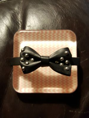 Brand new black leather studded bow bracelet! New! Obo. for Sale in Meriden, CT