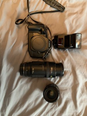 Canon 35mm camera + lenses + flash for Sale in Lynwood, CA