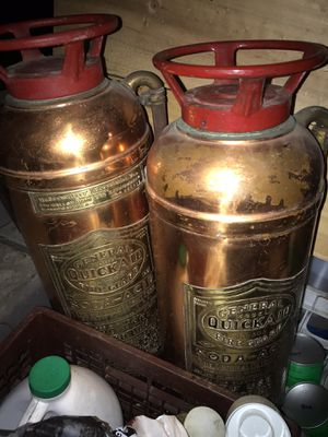 Antique fire extinguisher two for $150 for Sale in Jackson Township, NJ
