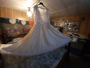 Vintage Victorian style wedding dress size 10/12 for Sale in Mount MADONNA, CA