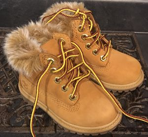 Toddler girl Timberland Boots. Worn once. Size 5. for Sale in Canton, OH