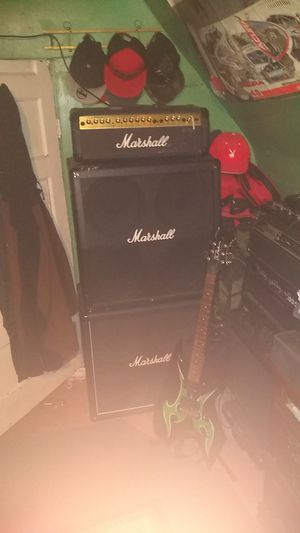 Marshall stack 8100 series valvestate head and 8100 cabinet for Sale in Aberdeen, WA