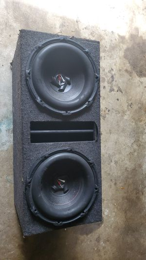 Subwoofer box w/subs for Sale in Fort Washington, MD