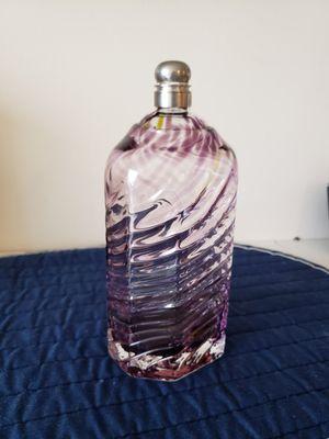 Vintage Art Deco Glass Bottle with Pewter Screw Cap for Sale in Bellevue, WA