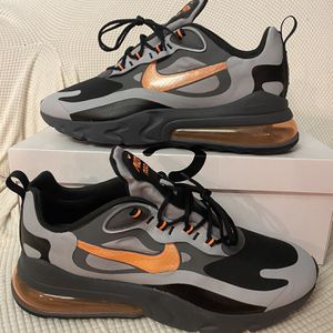 Air Max 270 React Wolf Grey-total Orange- Size14 for Sale in Columbia, MD