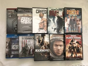 Blu Ray DVD Movies $2 Each Second Pic Movies $5 Each Clean Discs for Sale in Reedley, CA