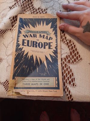 1940s war time map of Europe for Sale in Tulsa, OK