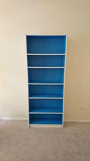 Ikea Billy book shelf, white/blue for Sale in Portland, OR
