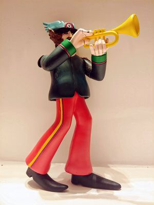 GENUINE McFARLANE YELLOW SUBMARINE TOY FIGURE RINGO WITH TRUMPET ! for Sale in Glenolden, PA