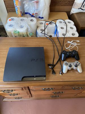 PS3 with cords and controllers for Sale in Andover, MA