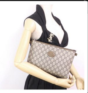 Authentic Gucci Vintage Gucci Plus Monogram Clutch Bag for Sale in Henderson, NV