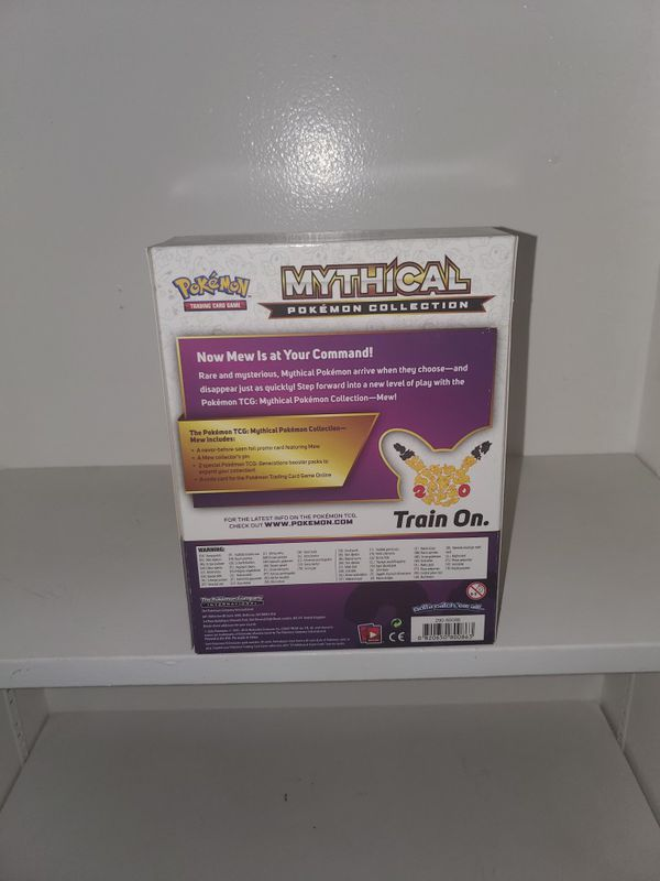 Pokemon card mew mythical collection pin booster cards