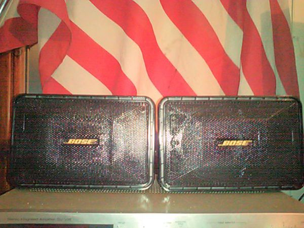 Two Vintage BOSE MUSIC MONITER SPEAKERS Perfect sound extremely powerful pair of top of the line speakers