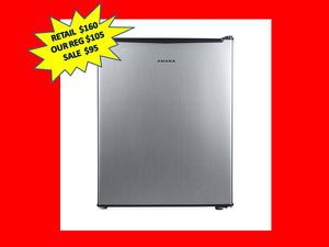 Amana 2.7 cu. ft. Mini Fridge Single Door Only in Stainless Steel Look. Brand New! for Sale in Plantation, FL
