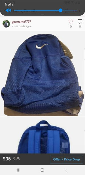 NIKE Brasilia Mesh Backpack 9.0 24L Royal BA6050-480 for Sale in Pomona, CA