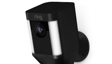 Ring Spotlight Cam Battery Outdoor Rectangle Security Wireless Standard Surveillance Camera in White for Sale in Atlanta,  GA