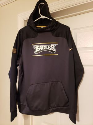 Mens Large, fits bigger than large, NFL Nike Philadelphia Eagles therma fit hoodie. No wear. Black and gray. for Sale in Murfreesboro, TN