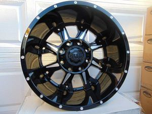 20X12 Gloss Black & Machined Gear Alloy Rims *8X180* *-44MM Offset* for Sale in Aurora, CO
