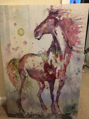 Pink Horse decorative room canvas for Sale in Miami, FL
