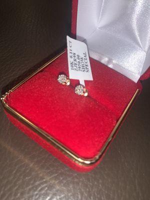 STEAL!!! 10k GOLD 4MM DIAMOND CLUSTER EARRINGS for Sale in Skokie, IL