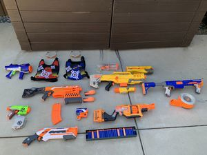 Assorted Nerf Guns, Accessories, and Darts for Sale in Los Angeles, CA